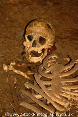 skull skeleton gough cave cheddar gorge medicine health science misc. bones dead death remains archeology excavate somerset england english angleterre inghilterra inglaterra united kingdom british