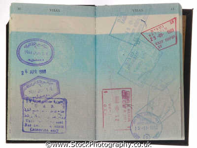 british passport isreali egyptian entry visa stamps money coins currency monetary wealth abstracts misc. paperwork bureacracy