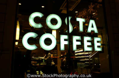 costa coffee shop window shops shopping buildings architecture london capital england english uk cockney angleterre inghilterra inglaterra united kingdom british