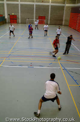 kicking ball 5-a-side 5 a side 5aside indoors soccer match sports sporting uk west united kingdom british