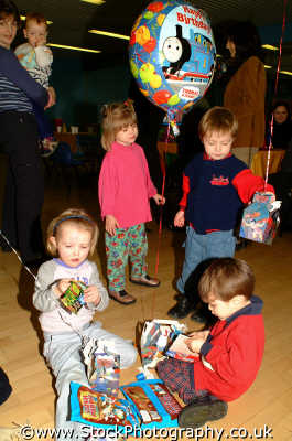 kids balloons children infant groups people persons west united kingdom british