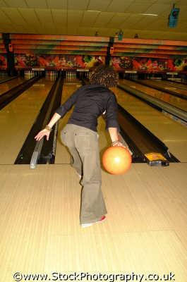 girl bowling leisure uk pin rolling west united kingdom british
