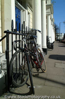 bikes railings pimlico bicycles cycling cyclists transport transportation uk kensington chelsea london cockney england english angleterre inghilterra inglaterra united kingdom british