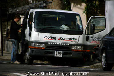 roofing contractor labour working people persons builder mitsubishi van west united kingdom british