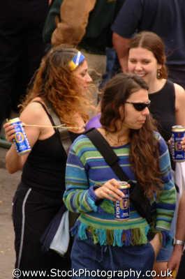 young women drinking woman female females feminine womanlike womanly womanish effeminate ladylike people persons laddish alcohol west united kingdom british