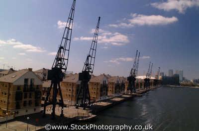 cranes housing royal victoria dock e16 docklands docks famous sights london capital england english uk urban regeneration tower hamlets cockney angleterre inghilterra inglaterra united kingdom british