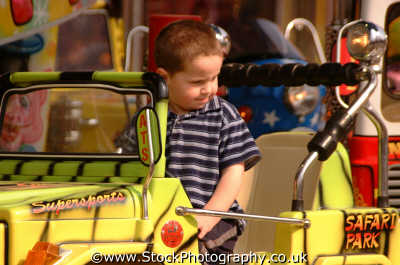 funfair ride boy jeep fairground carnival fairs leisure uk drive driver driving lambeth london cockney england english angleterre inghilterra inglaterra united kingdom british