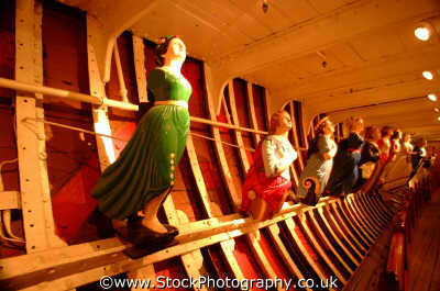 cutty sark figureheads displayed lower deck sailing clipper historical britain history science misc. carving carve carved wood wooden greenwich london cockney england english angleterre inghilterra inglaterra united kingdom british