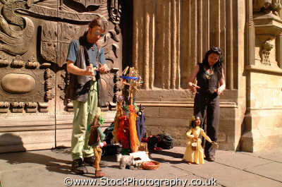 puppeteers street performers buskers arts misc. puppets marionettes bath wiltshire wilts england english angleterre inghilterra inglaterra united kingdom british