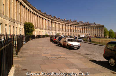 royal crescent bath south west england southwest country english uk spa regency georgian stone terrace gentry wiltshire wilts angleterre inghilterra inglaterra united kingdom british