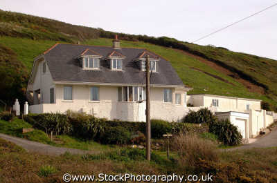 house hillside heybrook bay devon south west england southwest country english uk devonian angleterre inghilterra inglaterra united kingdom british