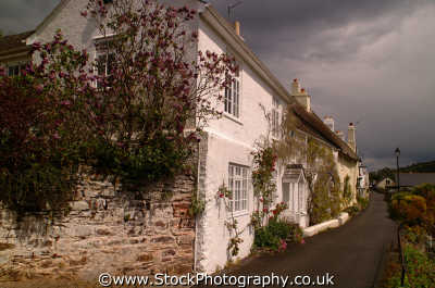 country cottages newton ferrers devon bristol south west england southwest english uk idyllic devonian angleterre inghilterra inglaterra united kingdom british