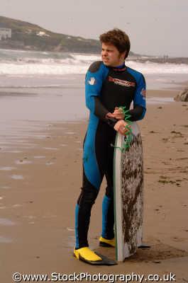 body boarder looking sea watersports aquatic sports sporting uk bodyboarding wetsuits boards devon devonian england english angleterre inghilterra inglaterra united kingdom british