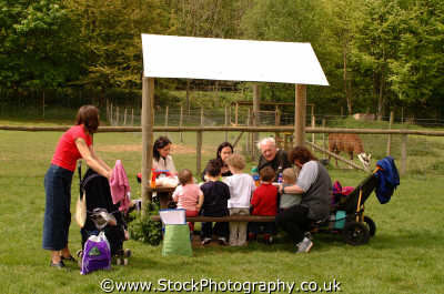 extended family picnic group families kin kinfolk tribe generations geneaology people persons eating england english angleterre inghilterra inglaterra united kingdom british