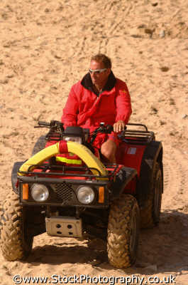 lifeguard beach rescue quad bike uk emergency services lifesaving newquay cornish cornwall england english angleterre inghilterra inglaterra united kingdom british