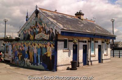 captain jaspers restaurant mural sutton harbour plymouth south west england southwest country english uk devon devonian angleterre inghilterra inglaterra united kingdom british