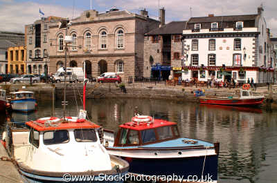 barbican quay customs house harbour harbor uk coastline coastal environmental plymouth devon devonian england english angleterre inghilterra inglaterra united kingdom british