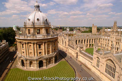 radcliffe camera aerial view british architecture architectural buildings uk university universities learning education academic oxford oxfordshire home counties england english angleterre inghilterra inglaterra united kingdom