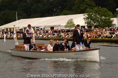 umpires launch henley regatta rowing thames london capital england english uk wooden boats referee river cockney angleterre inghilterra inglaterra united kingdom british