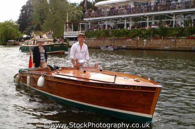 wooden river launch henley regatta rowing thames london capital england english uk rower sportsman champions sportsmen cockney angleterre inghilterra inglaterra united kingdom british
