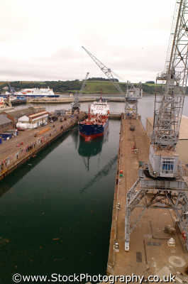 ship dry dock falmouth docks uk coastline coastal environmental cornwall cornish england english angleterre inghilterra inglaterra united kingdom british