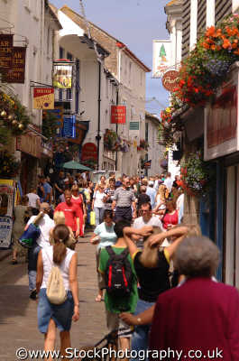 st ives town street scene south west england southwest country english uk tourism tourists cornish cornwall angleterre inghilterra inglaterra united kingdom british