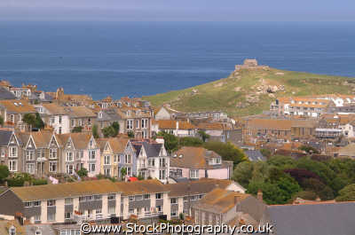 st ives aerial south west england southwest country english uk cornish cornwall angleterre inghilterra inglaterra united kingdom british
