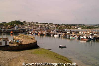 newlyn harbour scene harbor uk coastline coastal environmental fishing port haven anchorage cornwall cornish england english angleterre inghilterra inglaterra united kingdom british