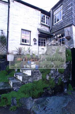 cottage steps polperro south west england southwest country english uk home cornwall cornish angleterre inghilterra inglaterra united kingdom british