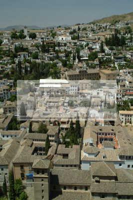 aerial view granada andalucia spanish espana european travel spain spanien españa espagne la spagna europe