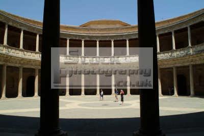 carlos palace interior alhambra granada andalucia spanish espana european travel spain spanien españa espagne la spagna europe