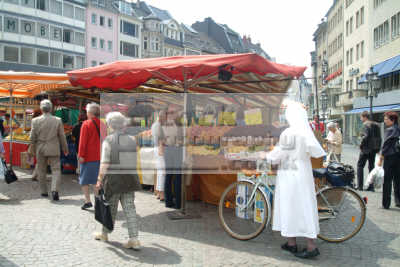 nun shopping market bonn north rhine westphalia german deutschland european travel rhineland valley germany europe germanic