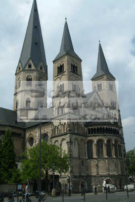 romanesque cathedral bonn north rhine westphalia german deutschland european travel rhineland valley germany europe germanic