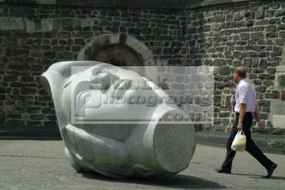 stone head man bonn north rhine westphalia german deutschland european travel rhineland valley germany europe germanic