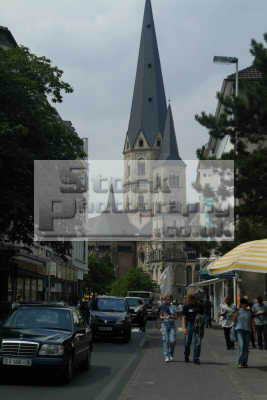 street cathedral bonn north rhine westphalia german deutschland european travel rhineland valley germany europe germanic