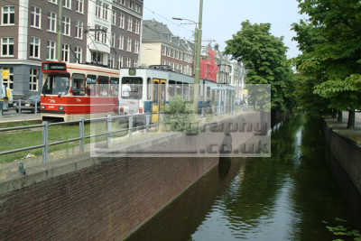 trams canal hague dutch netherlands european travel transport den haag holland la hollande holanda olanda europe