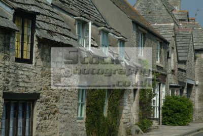 stone cottages corfe south west england southwest country english uk dorset angleterre inghilterra inglaterra united kingdom british