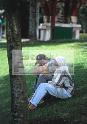 muslim couple happy park kuala lumpur malaysian asian travel malaysia asia
