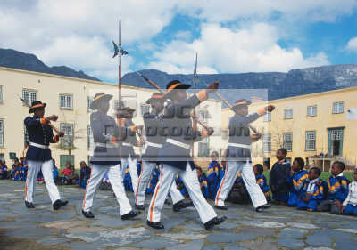 black soldiers cape town castle southern african travel military ceremonial south africa afrikaans