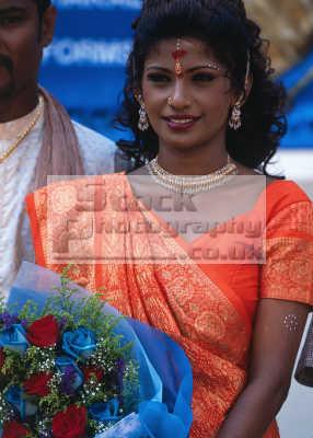 singapore hindu wedding bride young women woman female females feminine womanlike womanly womanish effeminate ladylike people persons beauty beautiful marriage asia