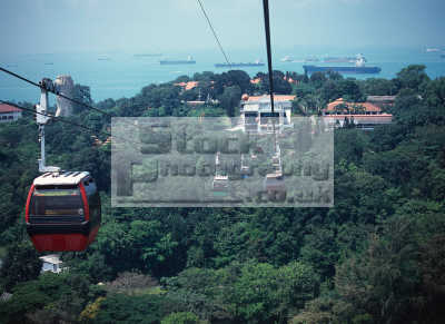 singapore cable cars sentosa island asian travel asia