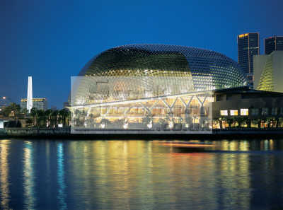 Contemporary Store on Singapore Esplanade Theater Contemporary Architecture Night Asian