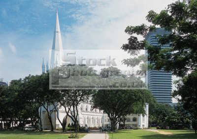 singapore st. andrew cathedral asian travel asia