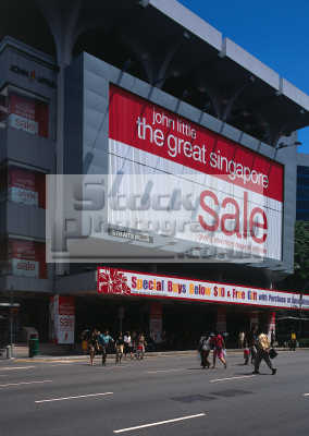 singapore shopping sale sign asian travel consumerism asia