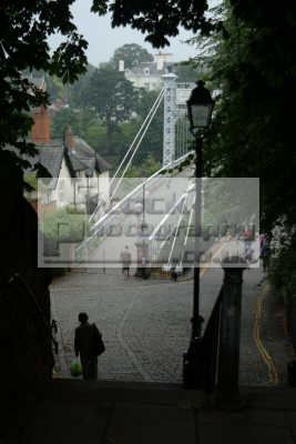 queen park suspension bridge river dee chester uk bridges rivers waterways countryside rural environmental cestrian cheshire england english angleterre inghilterra inglaterra united kingdom british