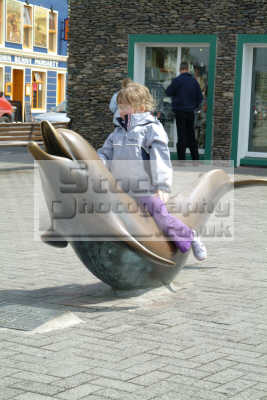 girl riding fungi dolphin dingle natural history nature misc. kerry ciarraí republic ireland eire irish irland irlanda europe european
