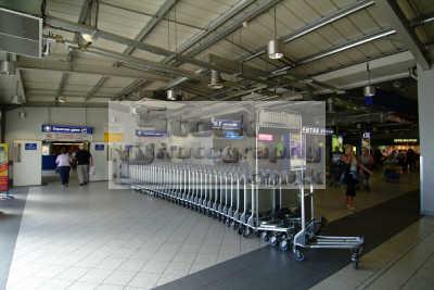 luton airport trolleys departure gate uk airports aviation airfield aircraft transport transportation bedfordshire beds england english angleterre inghilterra inglaterra united kingdom british