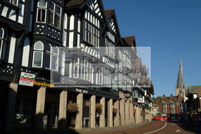 half timbered shops chesterfield buildings historical uk history british architecture architectural elizabethan tudor derbyshire england english angleterre inghilterra inglaterra united kingdom