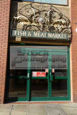 fish meat market chesterfield uk markets traders commercial buildings retailers british architecture architectural derbyshire england english angleterre inghilterra inglaterra united kingdom