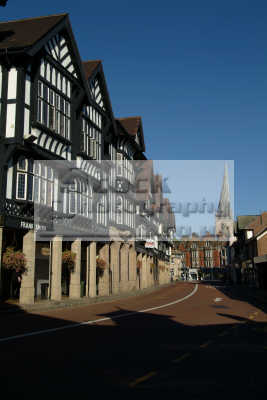 half timbered shops chesterfield buildings historical uk history british architecture architectural derbyshire england english angleterre inghilterra inglaterra united kingdom